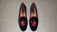 "RARE! $495 Stubbs & Wootton Black Velvet ""LIL DEVILS"" Slippers Loafers Shoes"
