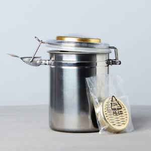 MUXIANG Humidor Jar with Humidifier and Hygrometer Tobacco Herb Storage Jar