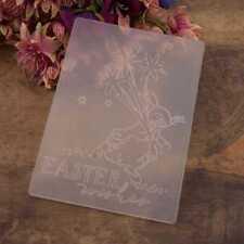 Easter Rabbit Embossing Folders Plastic Template Die Cutting Scrapbooking Card