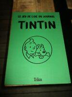 Hergé&Tintin-Ancien plateau cartonné du jeu de l oie-Trihan 1975-Tbe-Rare