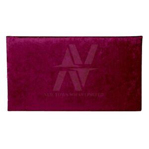 """24"""" Luxury Feel Hand Made Plain Crushed Velvet Upholstery Headboard 3ft 4ft 4ft6"""