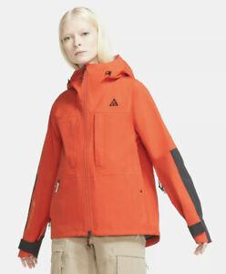 Womens Nike ACG Gore-Tex Misery Ridge Jacket Size S Small Orange Grey CV0598 891