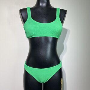 medium Xhilaration textured clover green 2-Piece bikini swim set