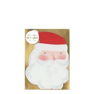 MERI MERI CHRISTMAS Jolly Santa Small Napkins - Eco Friendly (20 Pack)