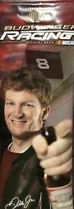 "Dale Earnhardt Jr #8 Budweiser Racing Promo Banner Vinyl 2 Sided  58""x22"" Scarce"