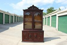 Fabulous Massive Walnut Victorian Breakfront Bookcase with Cabinet Bottom