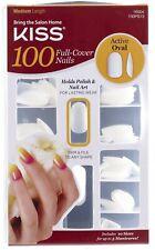KISS 100 PROFESSIONAL FULL-COVER NAILS OVAL Medium Length NAIL GLUE Manicure