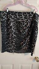 Lane Bryant Women's Leopard Print Skirt Size 22 Above Knee Length
