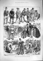 Old Antique Print 1881 Smithfield Club Cattle Show Butcher Drover Breeder 19th