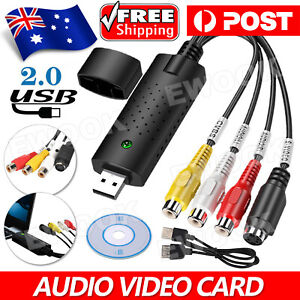 USB2.0 DVD VHS Record Capture Card Analog Video To Digital Audio Video Converter