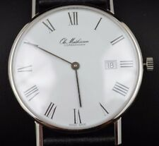 Ole Mathiesen Classic Watch, Roman Numerals with Date New in Box