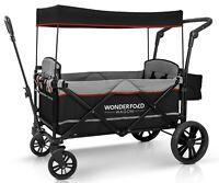 Wonderfold Wagon X2 Push Pull 2 Passenger Folding Stroller Black NEW