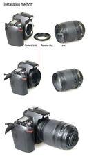 58 mm Lente Macro inverso cierre Anillo Adaptador para cámara de montaje Nikon Canon
