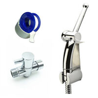 "Modern Toilet Handheld Bidet Spray Shattaf Douche Brass 7/8""T-adapter Set,Chrome"
