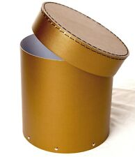 1x Gold decorative round hat box for flowers Home Decor Gift M