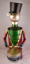 Metal Toy Soldier Drummer Wine Bottle Holder, 13½ inches tall, by Berkeley