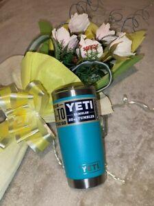"YETI - AQUIFER BLUE - Rambler 20 oz Tumbler with ""MAGSLIDER LID"""