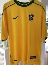 Brazil Nike 1998 home football shirt ,Ronaldo # 9 Original Authentic L ,Rare,