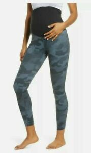 ZELLA Women's Poly Spandex MATERNITY Leggings Gray Camouflage Size Medium