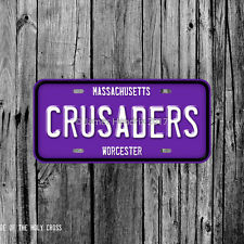 College of the Holy Cross Crusaders Worcester Massachusetts License Plate