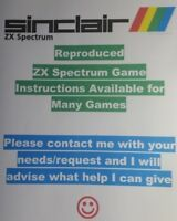 🎮 Reproduced ZX Spectrum Game Instructions. You name it, 🕹️