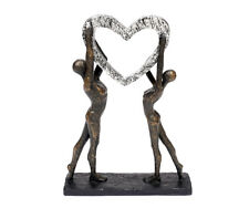 Sculpture Heart Abstract Decorative Figures Made Of Polystone Love Gift Wedding