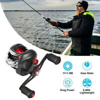 17+1 BB 7.2:1 Baitcasting Fishing Reel High Speed Gear Ratio Up to 17.5 LB Drag,