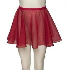 Body Wrappers BWC199 Burgundy Girl's Large/XLarge (8-14) Chiffon Pull-On Skirt