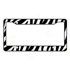 BLACK WHITE ZEBRA LICENSE Plate Frame Car SUV Safari COVER PLASTIC Add Style!!