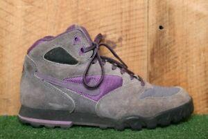 Vintage 90's NIKE 'Caldera' Purple Suede & Canvas Hiking Boots Women's Sz. 6.5