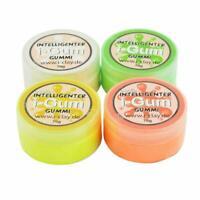 4x I-Gum i-clay  Soft Superweich Gummi- Slimeknetmasse intelligente Superknete