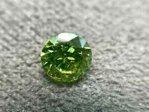 0.0351Cts Color Green Clarity SI3 Very Good Round 2.01MM Natural loose Diamond