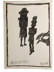 "Charles Blackman Drawing""DRAWING A SCHOOL GIRL AND A GENTLEMAN""29.5 Cm X21 Cm."
