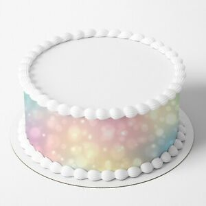 Bokeh Pattern Edible Icing Image Cake Wrap Topper
