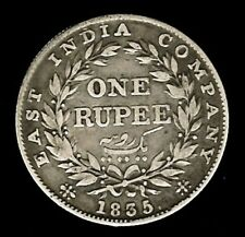 India -BRITISH COLONIAL  - 1835 - William IV - AR rupee - H.G - KM-450