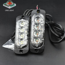 2× 4 LED Truck suv Trailer Hazard Emergency Warning Flash Strobe Light Amber