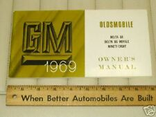 1969 OLDSMOBILE 88 98 Car Owner's Manual CDN