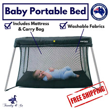 Baby Portacot Travel Cot Foldable Portable Cot Bed With Mattress Newborn