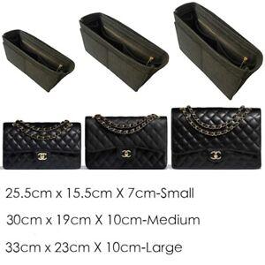 BAG INSERT Organiser for Classic Flap Bags Choose: Small Medium/large Jumbo