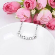 Beautiful Silver Plated Cubic Zirconia Pendant Necklace Chain