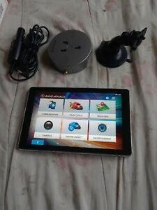 """Rand mcnally overdryve 8 pro commercial Truck gps/tablet """"works great""""  8 inch."""