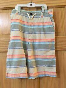 New Oshkosh Boy Shorts Stripe  7,10,12,14