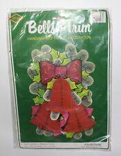 Vintage Beistle Creation Bells & Trim Hanging Art Tissue Decoration Nip