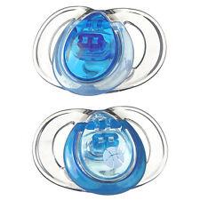 Tommee Tippee cerca de naturaleza 2-Pack puro Chupetes 3-9m Azul Diseño