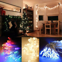 Christmas LED Fairy Lights Battery Operated - Xmas Tree Icicle String Table Wall