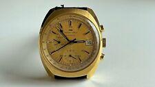 Vintage 1970's Jaquet Droz Chronograph Swiss Men's Watch Lemania 1340 39mm Rare!