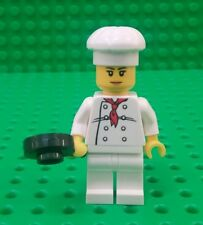 *NEW* Lego Chef Cook Woman Minifig Hat Fry Pan Figure Fig x 1