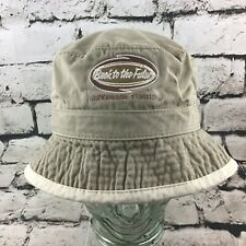 Back To The Future Universal Studios Mens OS Khaki Bucket Hat Fishermans Cap