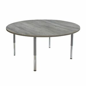 60 in Round La Madera Adjustable Activity Table with Super Legs - Cherry/Black