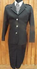 NEW GENUINE WPC Police Woman  black full uniform Jacket & skirt siz 12  70s 80s
